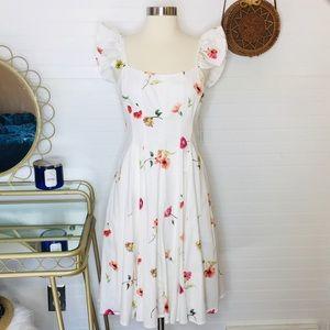 NEW Gianni Bini Floral Fit & Flare Midi Dress